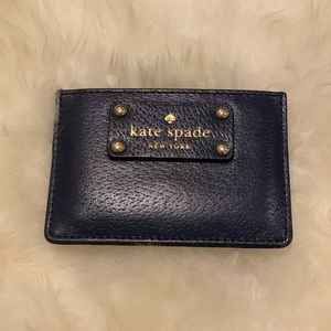 Kate Spade Card Holder - Navy/Gold